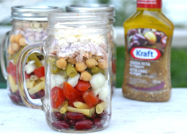 layered bean salad