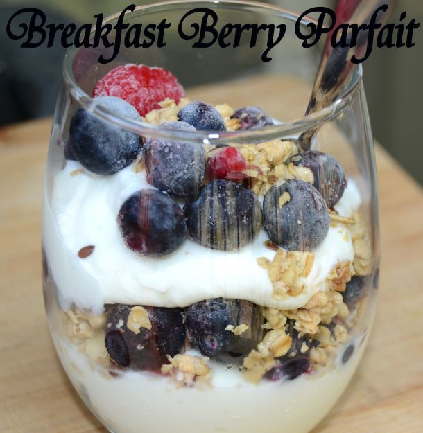 breakfast berry parfait recipe