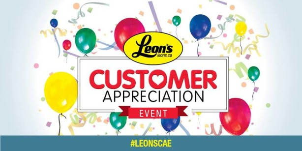leon's customer appreciation event