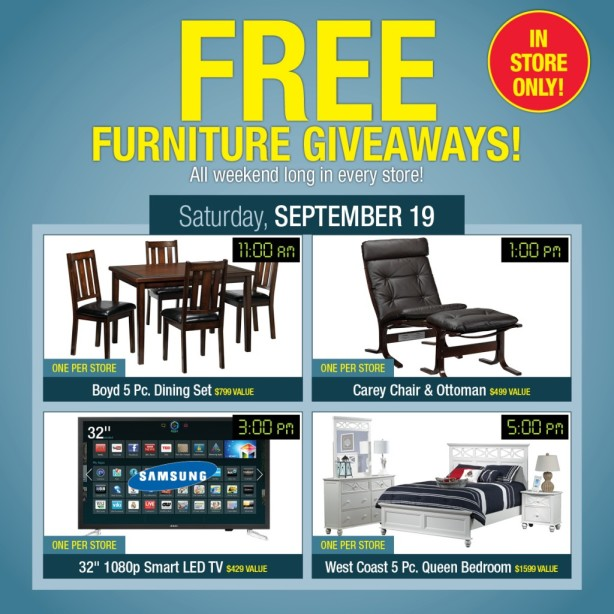 leon's furniture giveaway