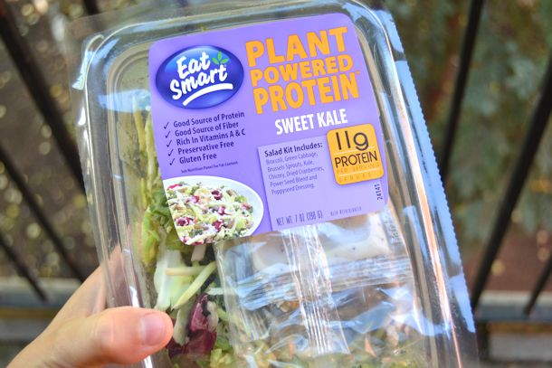 eat smart plant powered protein sweet kale salad