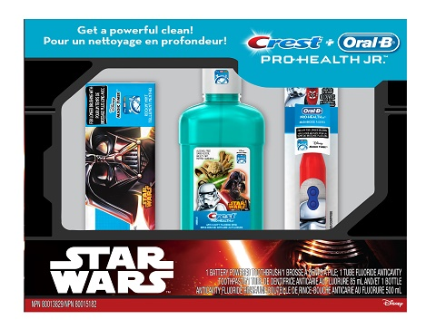 star wars crest oral-b holiday gift set