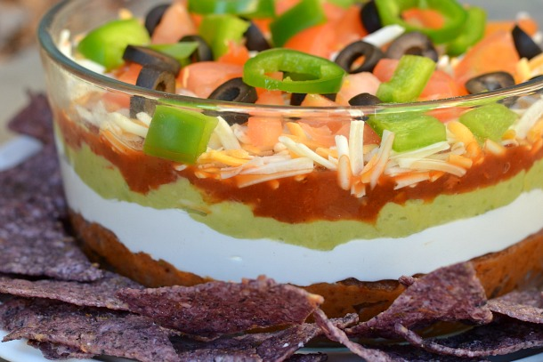 holiday layered mexican dip