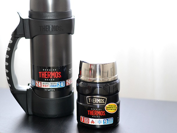 thermos rock beverage bottle and vacuum food jar