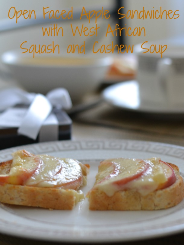 Easy Open-Faced Apple and Gruyere Sandwiches with Soup. Perfect for holiday entertaining!