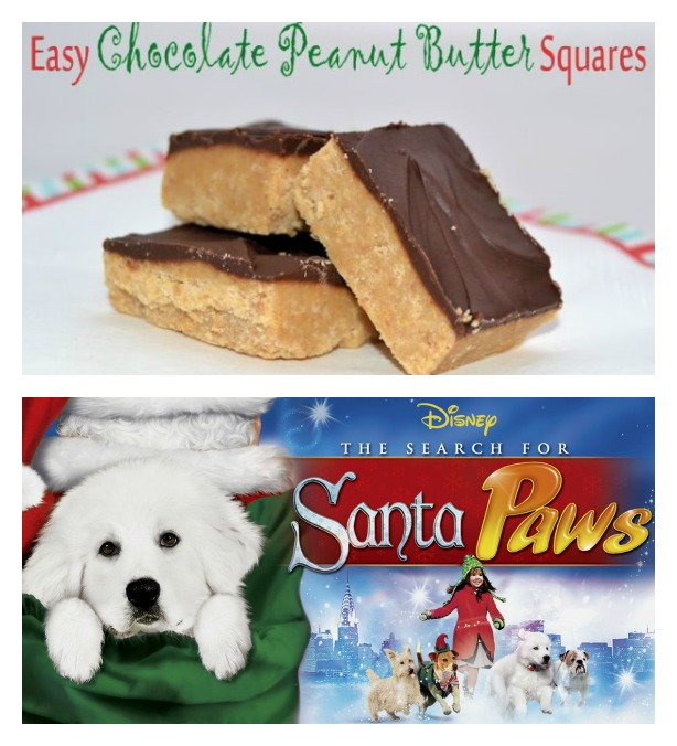 chocolate peanut butter santa paws
