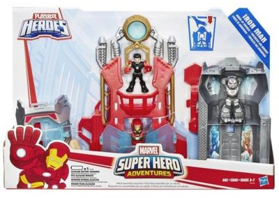 playskool iron man armor up fortress