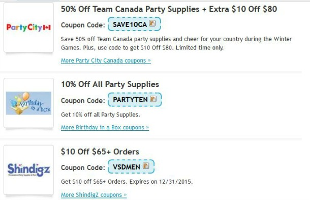 retailmenot party supplies coupon codes