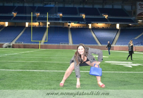 posing on ford field detroit lions