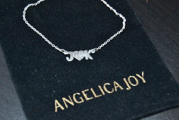 angelica joy initial heart necklace