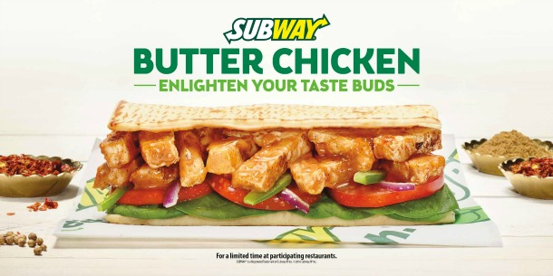 subway butter chicken graphic