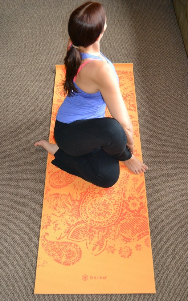 yoga with gaiam yoga mat