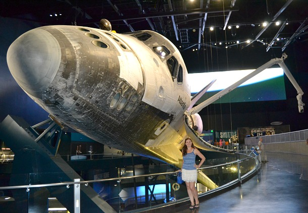 kathryn and atlantis space shuttle