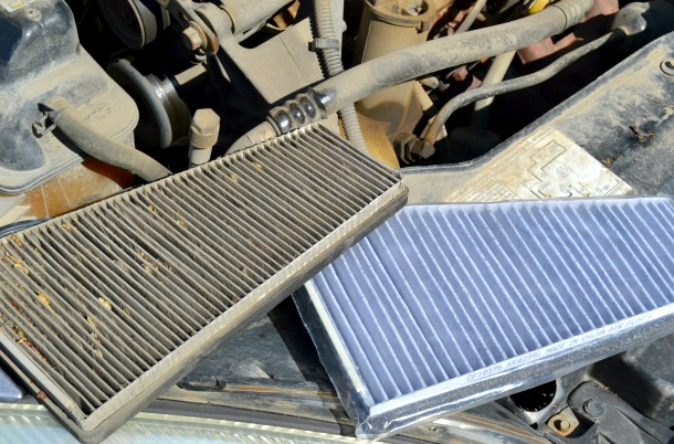old vs new cabin air filter