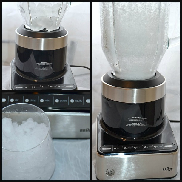 braun blender making crushed ice