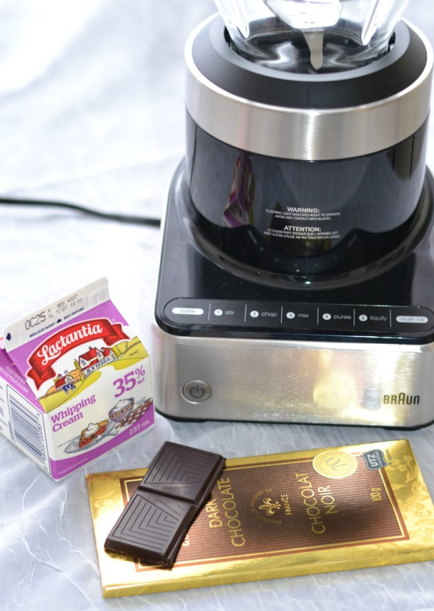 braun puremix with chocolate ingredients
