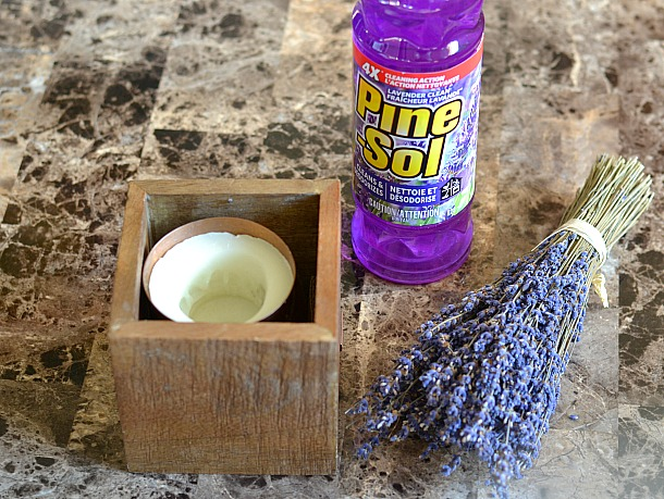 pine-sol cleaner and lavender