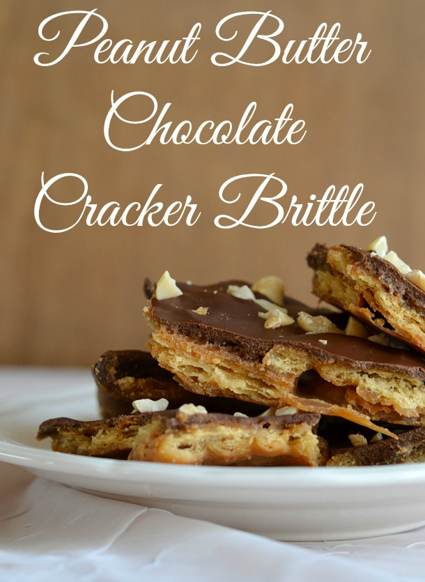 Super Easy Peanut Butter Chocolate Cracker Brittle Recipe
