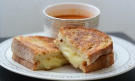 Best Ever Gourmet Grilled Cheese with Two Cheeses and Roasted Garlic Artisan Bread