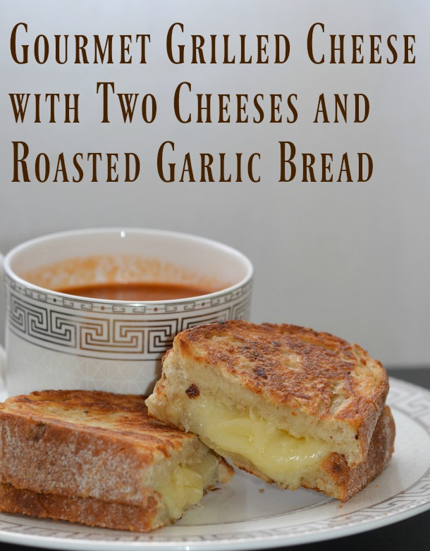 best ever gourmet grilled cheese with two cheeses