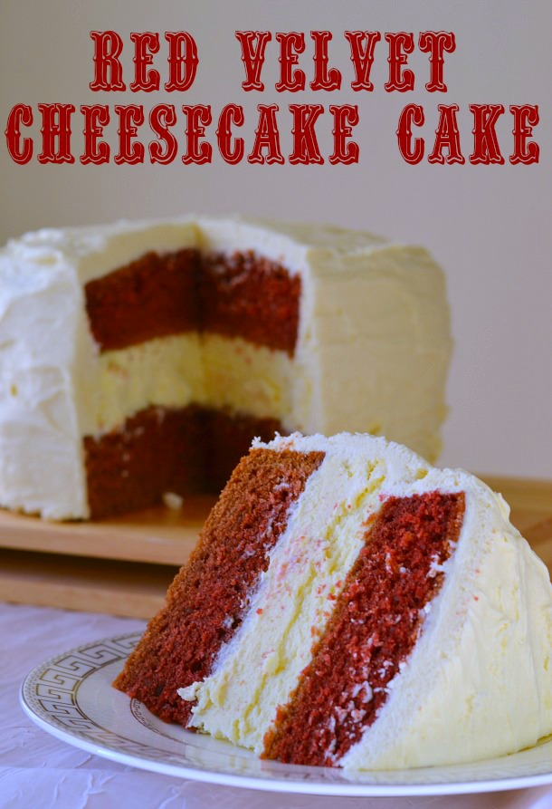 Decadent Red Velvet Cheesecake Cake
