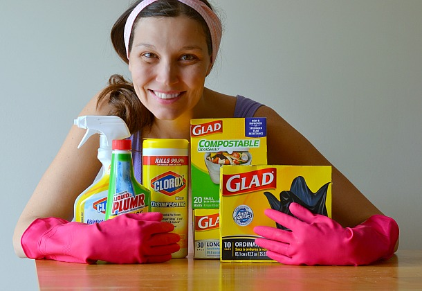 kathryn gignac glad and clorox spring cleaning