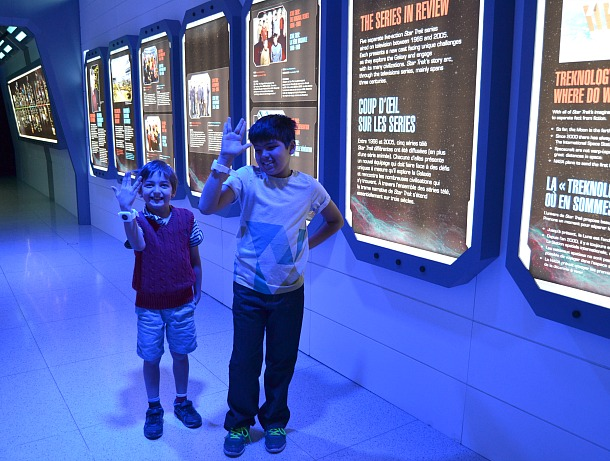 telus spark boys in star trek exhibit
