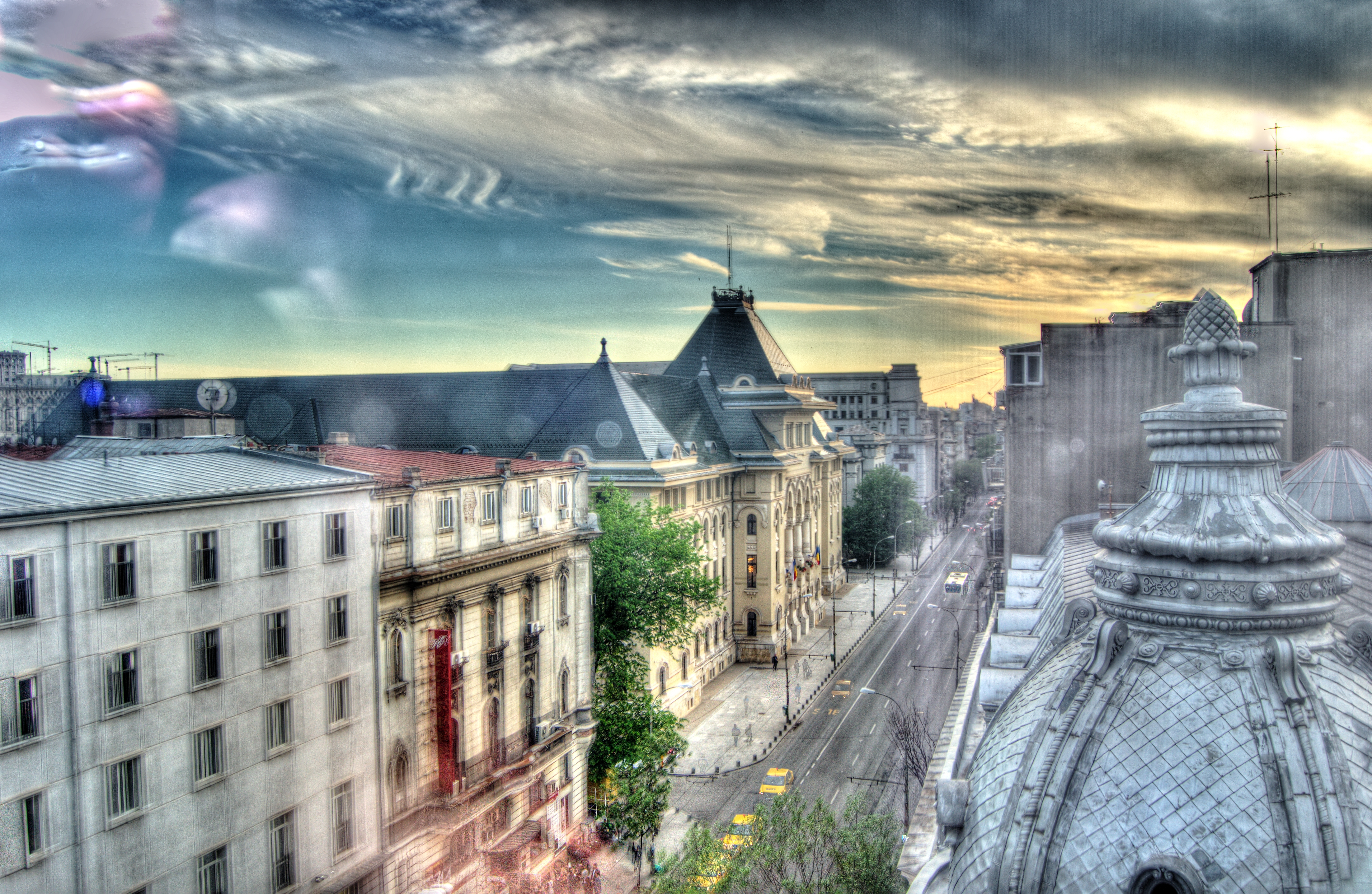 bucharest downtown view