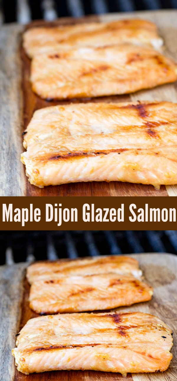 Easy Glazed Maple Dijon Salmon Recipe