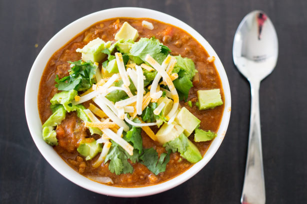 taco-casserole-with-avocado