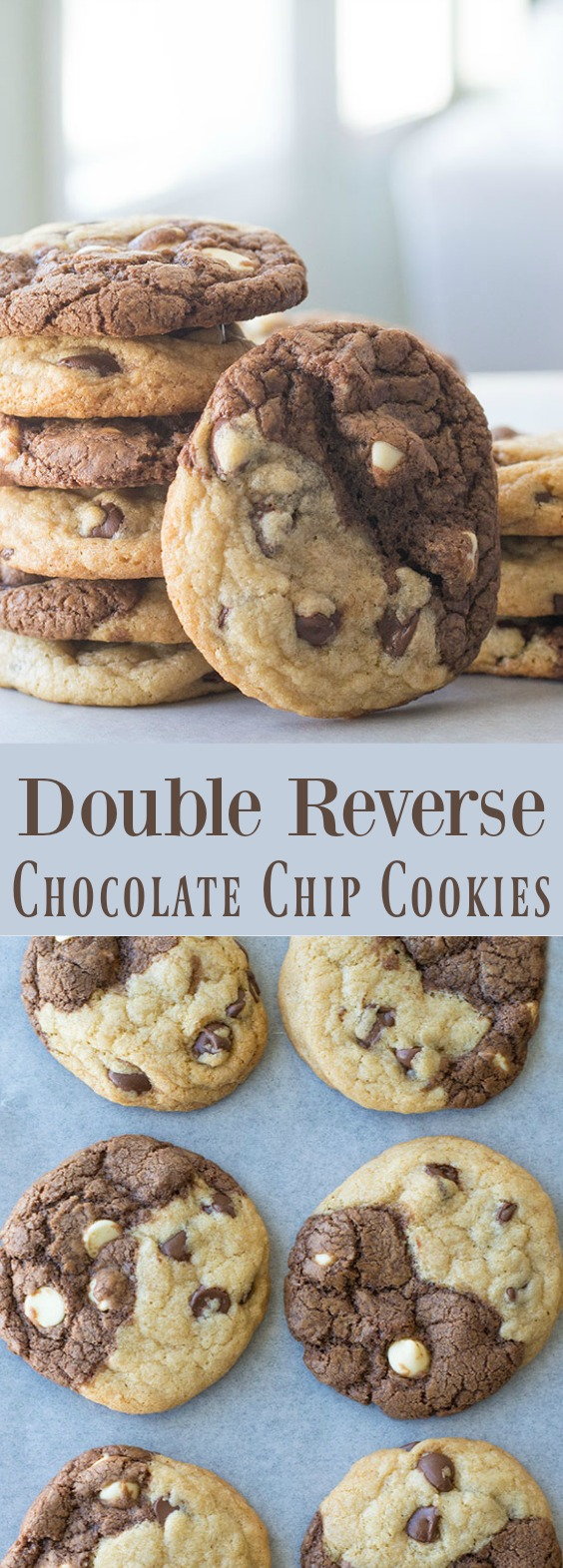 reverse chocolate chip cookies pin