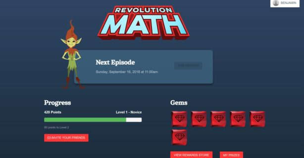 revolution math screenshot