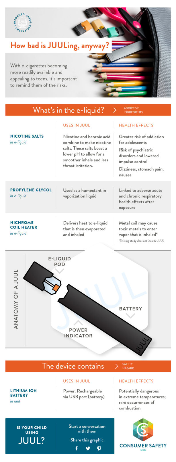 dangers of vaping infographic